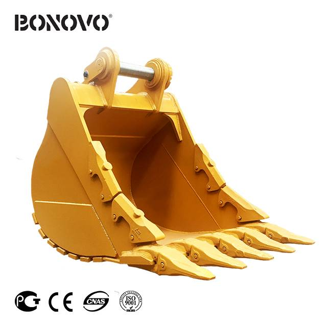 Bonovo severe-duty bucket quarry bucket for digging in severe ground conditions where rock is prevalent Featured Image