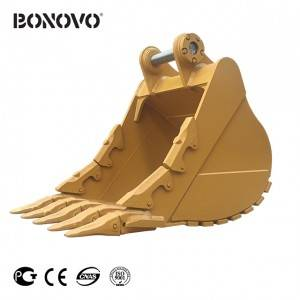 Bonovo severe-duty bucket quarry bucket for digging in severe ground conditions where rock is prevalent