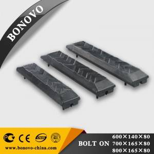 Bolt-on type Rubber Track Pad Shoes for 1-30 ton Excavator