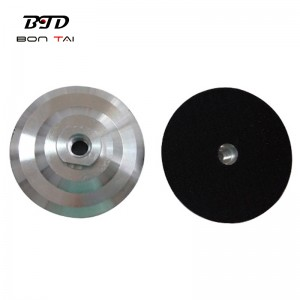 5 inch M14 Thread Diamond Polishing Pads backer Pad Aluminum Backer Pads Angle Grinder Adapter
