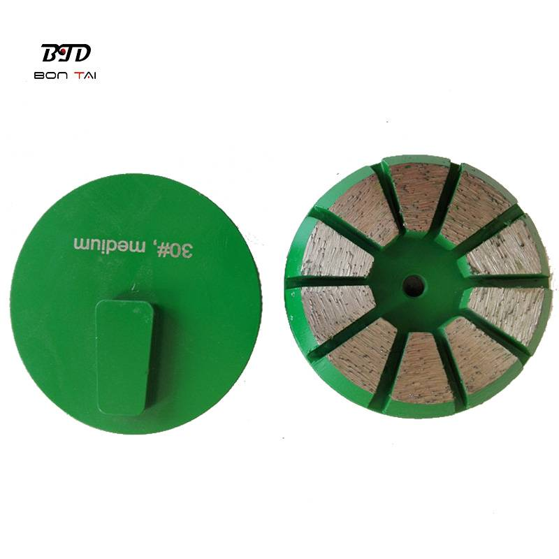 3″ Terrco Diamond grinding pad with redi-lock backing Featured Image