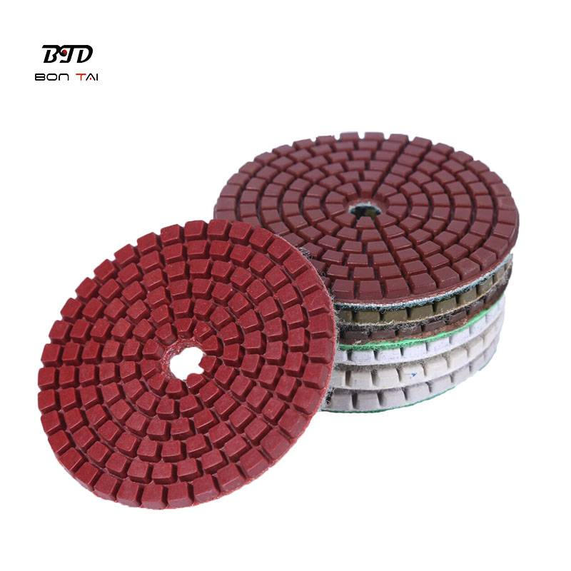 OEM/ODM Manufacturer Wet And Dry Polishing Pads - Wet or dry polishing resin pads for granite,marble and concrete – Bontai