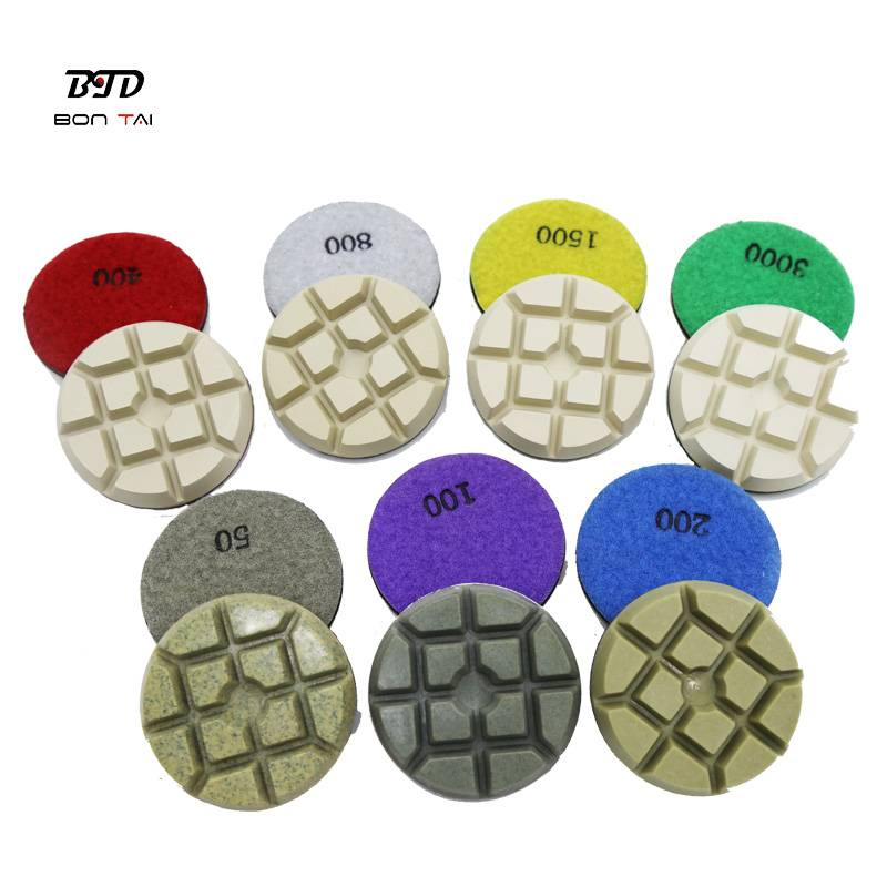 Factory wholesale Concrete Hybrid Pads - 3 inch sharp dry diamond polishing pucks for concrete – Bontai