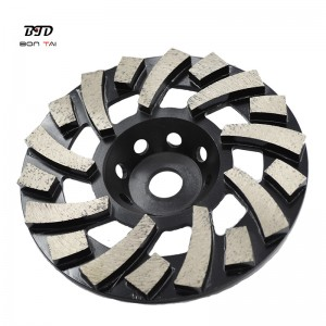 Good Quality Quick Fit Converter Plate – 7″ TGP Diamond Grinding Cup Wheel for Concrete Floor  – Bontai