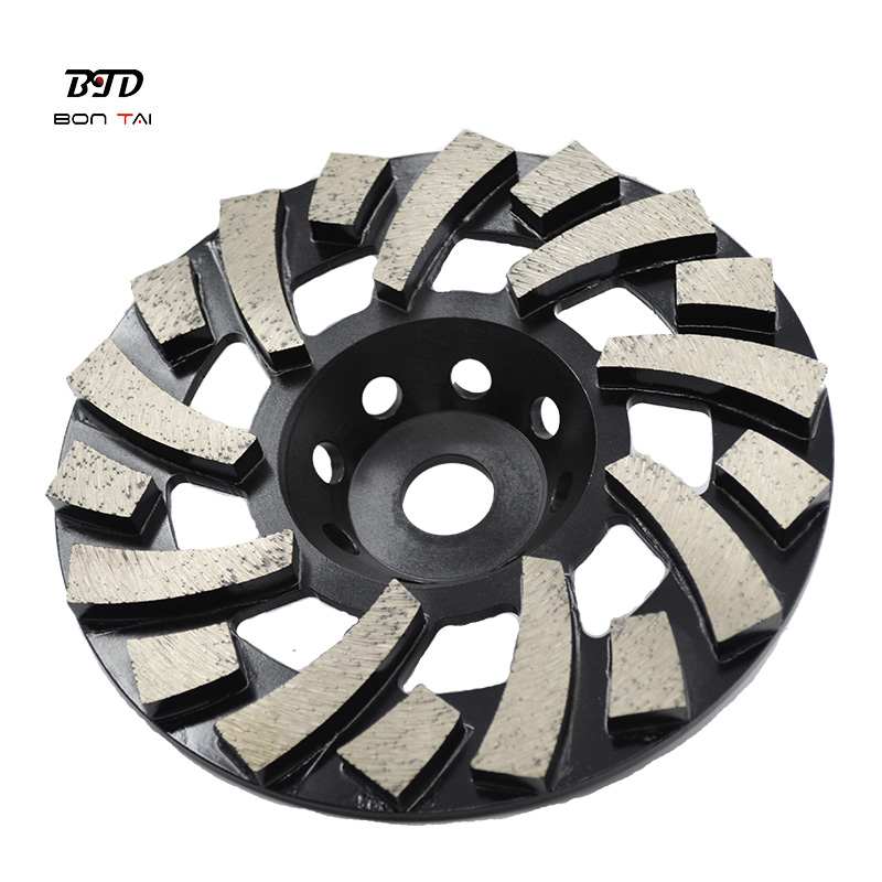 Hot sale Diamond Aluminum Cup Wheel - 7″ TGP Diamond Grinding Cup Wheel for Concrete Floor  – Bontai