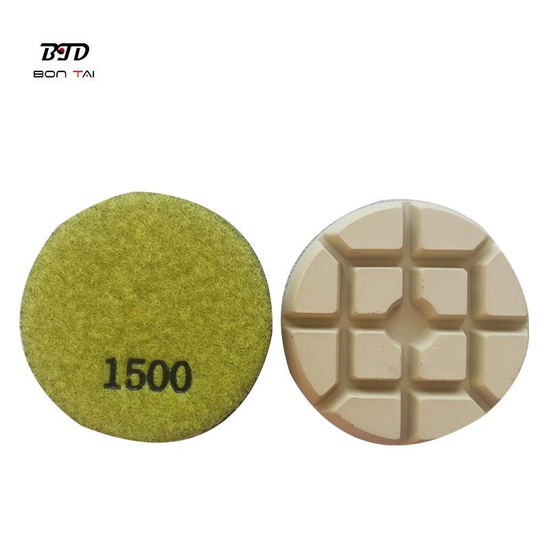 OEM China Resin Bond Polishing Pad - 3 inch sharp dry diamond polishing pucks for concrete – Bontai detail pictures