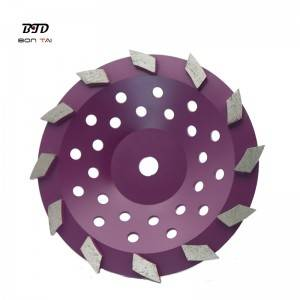 10″ Turbo segmented diamond grinding cup wheels abrasive tools