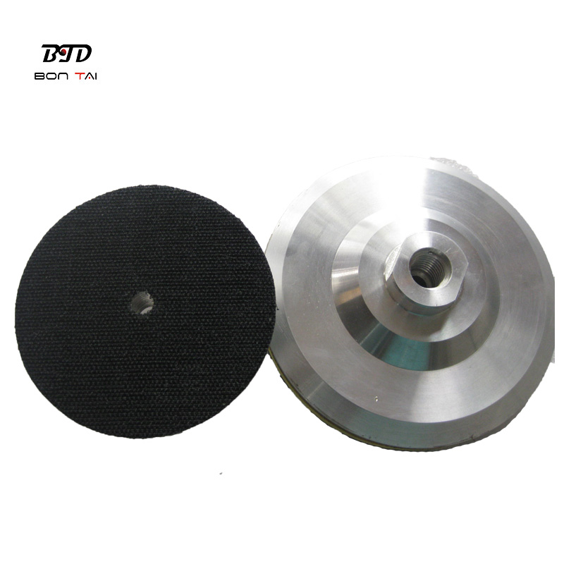 OEM/ODM Supplier Diamond Segments For Concrete Grinding - 5 inch M14 Thread Diamond Polishing Pads Packer Pad Aluminum Backer Pads Angle Grinder Adapter – Bontai