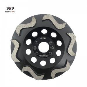 S Type Segment Diamond Grinding Cup Wheels Abrasive Tools for Concrete Floor