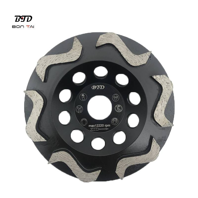 High Quality Diamond Single Row Cup Wheel - S Type Segment Diamond Grinding Cup Wheels Abrasive Tools for Concrete Floor – Bontai