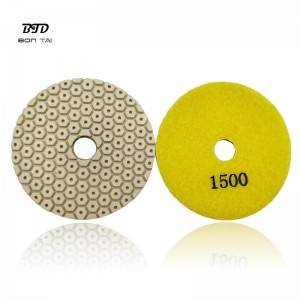 Manufactur standard Concrete Resin Floor Polishing Pads - 4″ 100mm Diamond Polishing Resin Pad for polishing concrete and stones – Bontai