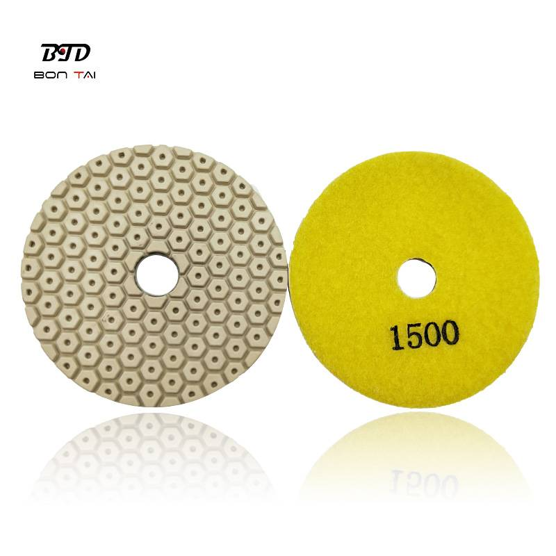 Factory Price For Terrazzo Polishing Pads - 4″ 100mm Diamond Polishing Resin Pad for polishing concrete and stones – Bontai Featured Image