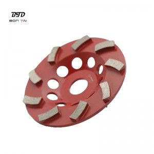 4 Inch Abrasive Tools Diamond Turbo Cup Wheel for Concrete & Stone