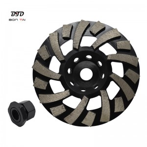 7″ TGP Diamond Grinding Cup Wheel for Concrete Floor