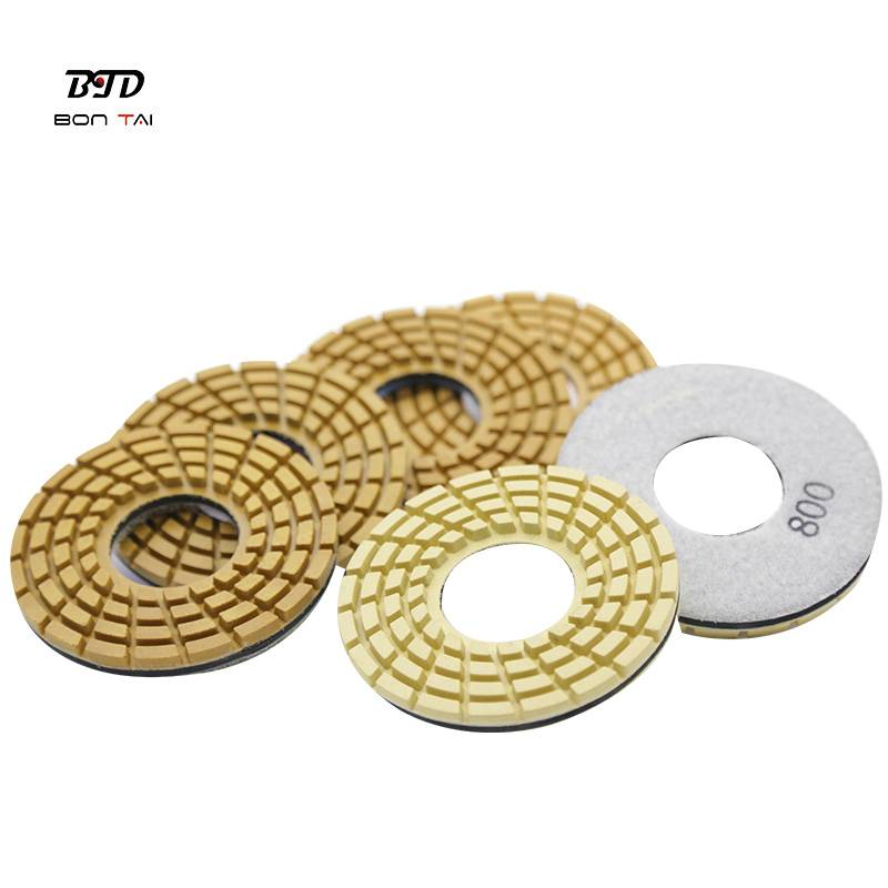 OEM/ODM Supplier Concrete Floor Polishing Pad - 4″ Resin Diamond Polishing Pads for Klindex grinders – Bontai