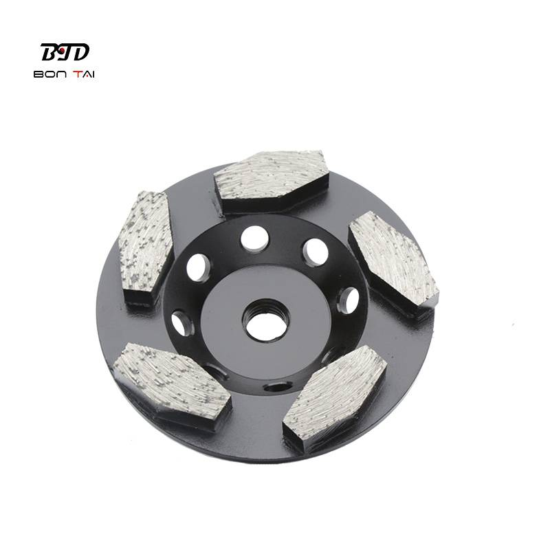 Factory wholesale Resin Filled Cup Wheel - 4 inch hexagon segments turbo diamond grinding cup wheel – Bontai
