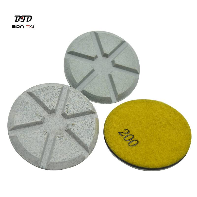 Factory wholesale 7 Steps Diamond Wet Polishing Pads - 3″ ceramic bond diamond resin polishing pads – Bontai