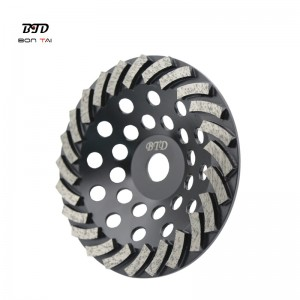 7 Inch 24Seg.Turbo Abrasive Wheels Diamond Grinding Cup Wheel for Concrete