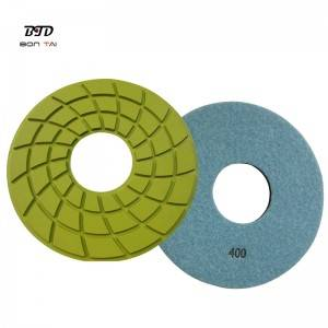OEM Supply Polishing Pads For Angle Grinder - 7″ 180mm Velcro backed diamond polishing resin pads – Bontai