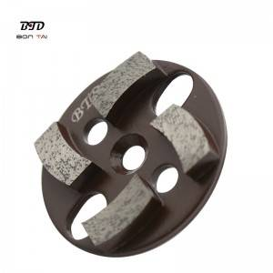 3 inch multi-functional round magnetic diamond grinding disc with 4 segments