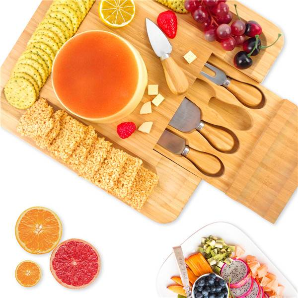 Fixed Competitive Price Fold In The Cheese Cutting Board - Kitchen accessories Bamboo Cheese Board & knife Set Charcuterie Serving Tray House Warming Gift Best Choice China Supplier – Bridge Style