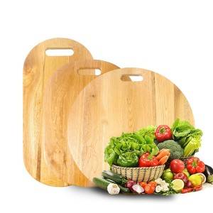 Discount wholesale Pizza Wood Board - Butcher Block Cutting Board Oak Wood Large Wooden Chopping Board Charcuterie Serving Platter Board with handle – Bridge Style