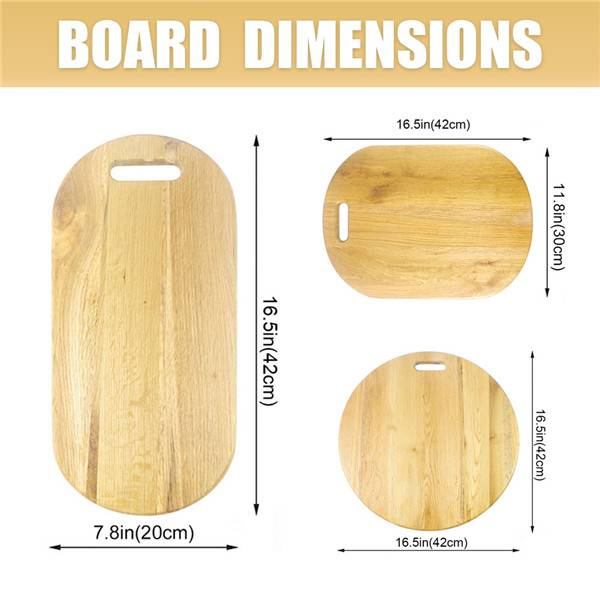 Wholesale Dealers of Pizza Cutting Board 14 Inch - Butcher Block Cutting Board Oak Wood Large Wooden Chopping Board Charcuterie Serving Platter Board with handle – Bridge Style