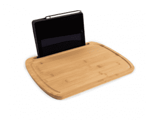 2019 China New Design China Eco-Friendly Kitchen Bamboo Cutting Board Serving Trays With Phone Stand