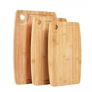 Competitive Price for China Premium Natural Original Vertical Pressed Bamboo Cutting Chopping Board Set