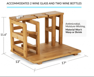 Manufacturer for Natural Bamboo Charcuterie board Wine Tabletop Display Red Wine Glass Cup Rack