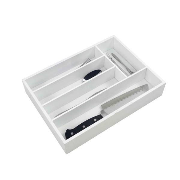 High Quality Utensils Holder - Wholesale Kitchen Utensil Drawer Organizer, Bamboo Silverware Tray for Drawer ,Cutlery Organizer, Flatware Drawer Holder Medium,Wood Office Desk Storage Organizers,Knife Drawer – Bridge Style
