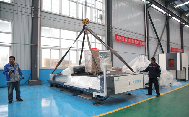 Another metal laser cutting machine shipped to Ji 'nan Zhangqiu