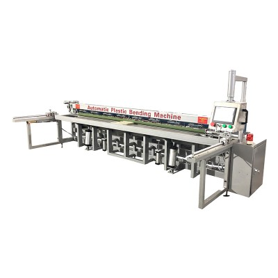 Automatic plastic sheet bending machine