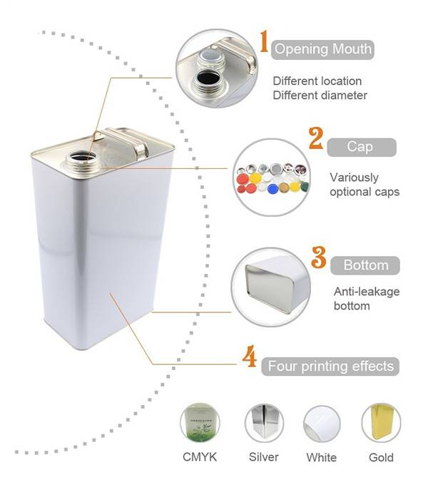 1L-2L-1Gallon-5L F-Style Tin Can for Packaging Chemicals2