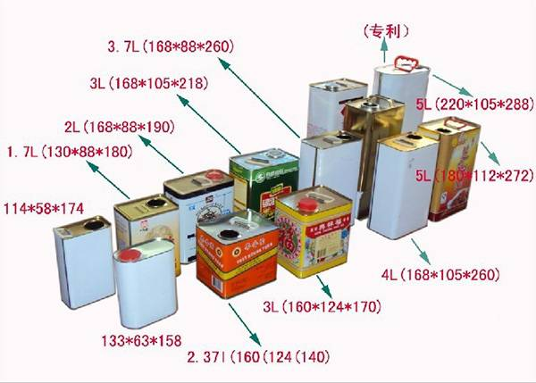 1L-2L-1Gallon-5L F-Style Tin Can for Packaging Chemicals3