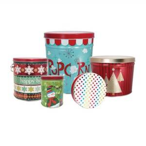 Wholesale Price Round Tin Can - 1gallon-2gallon-3.5 gallon Popcorn Tin Boxes_Pails – Byland