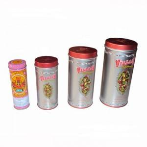 Tall Round Tin Boxes& Custom round tin packaging boxes