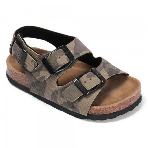 New Arrival Best Selling Good Quality Buckle Strap Leather insole Children Kids Boys Comfort Sandals
