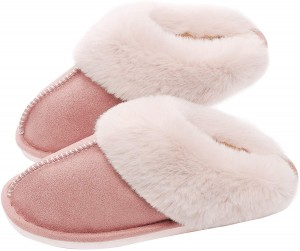 Best-Selling China 2020 Latest Plush Faux Fur Sandal Slipper for Woman