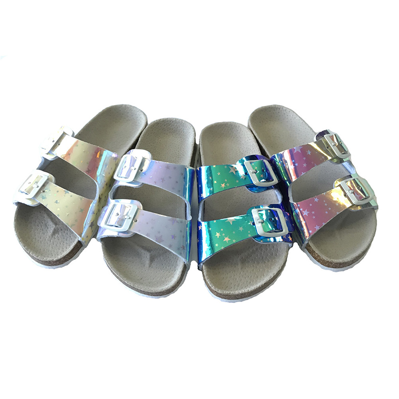Hot Sale Summer Open Toe Buckle Sandals Cork Sole Girls Sandals Featured Image