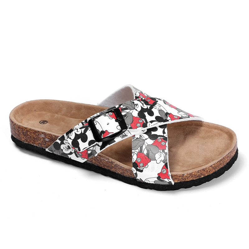 Teenagers and Children Cross Straps cork foot bed Sandals for Boys and Girls with Beautiful Cartoon Printing Featured Image