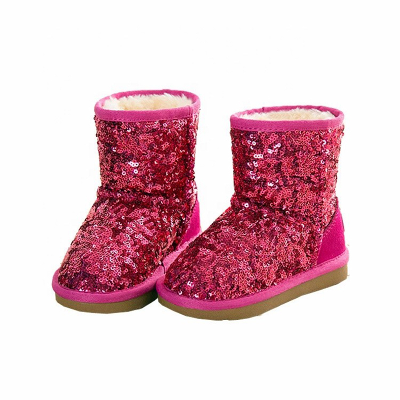Lowest Price for Slider Slipper - Sequins girls boots kids winter snow boots bling paillette children shiny ankle boots – BYRING