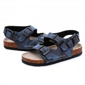 Fine Quality Sandals for Toddler Boys Kids Children with Comfortable Design and Cork Sole Foot-bed