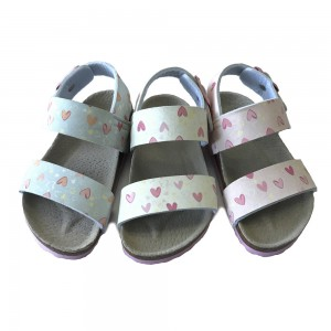 Hot Sale for China EVA Kids Sandals, Two Tone Color Sandal Shoes with Spring Strap