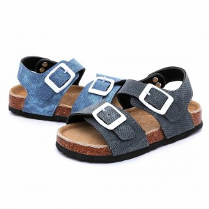 Factory best selling China New Arrival Baby Boy Sandal with TPR Outsole