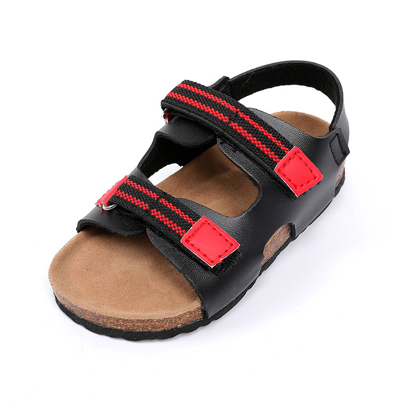 Comfortable new style cork sole EVA outsole outdoor footbed Sandals for children boys Featured Image
