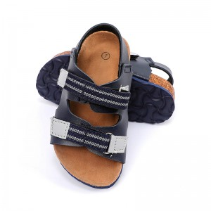 Comfortable new style cork sole EVA outsole outdoor footbed Sandals for children boys
