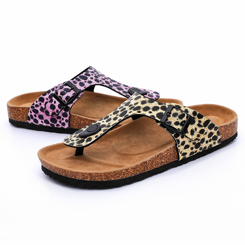 Super Purchasing for Wood Wedge Sandals - Hotsale Fashion Leopard PU Upper Flipflops Women Thong Sandals for Summer with Bio Cork Sole – BYRING