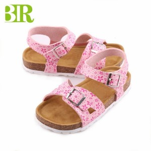 Hot Sale Summer Open Toe buckle sandals cork sole kids sandals