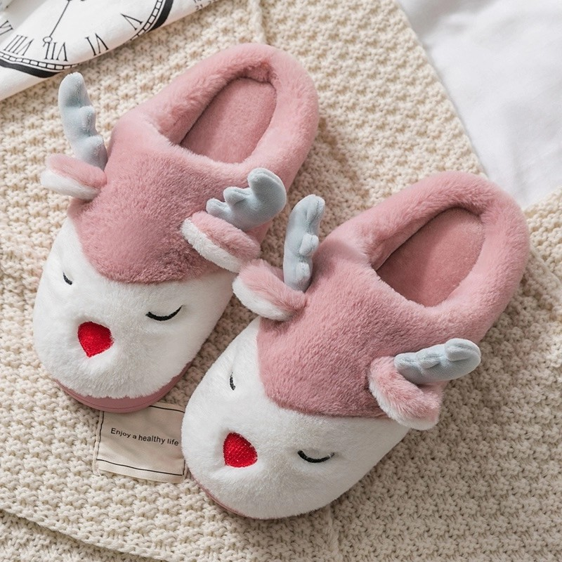 ew design women cozy plush open toe cross straps home indoor slippers Featured Image